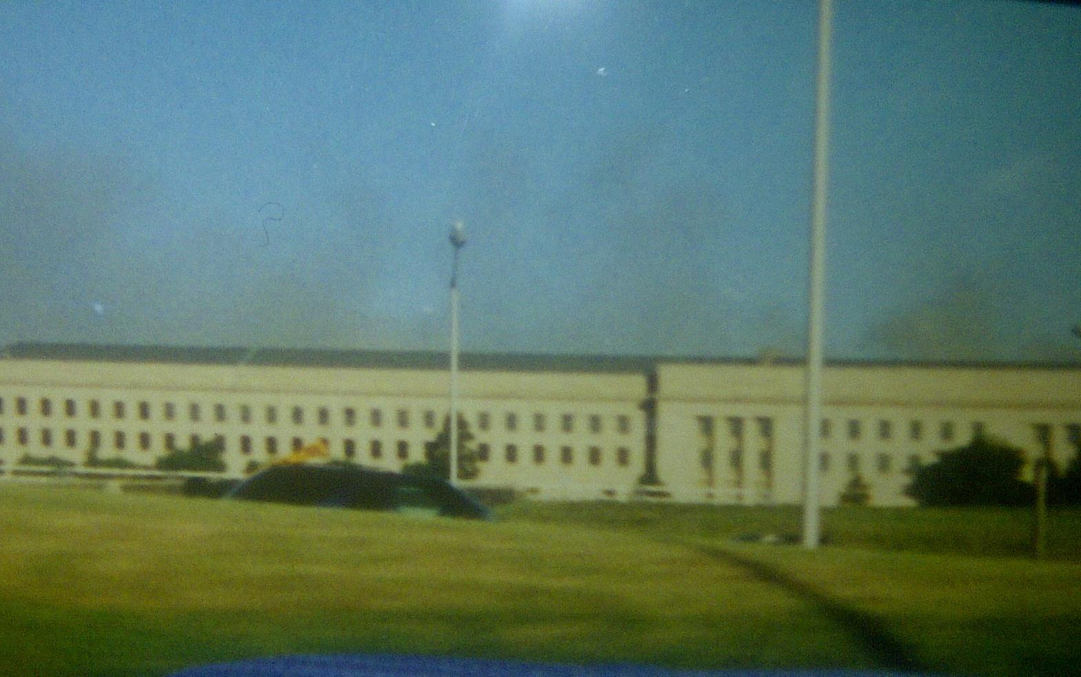 The Pentagon as smoke billows after the crash of Flight 77 Photo Credit: Melissa DeCastro