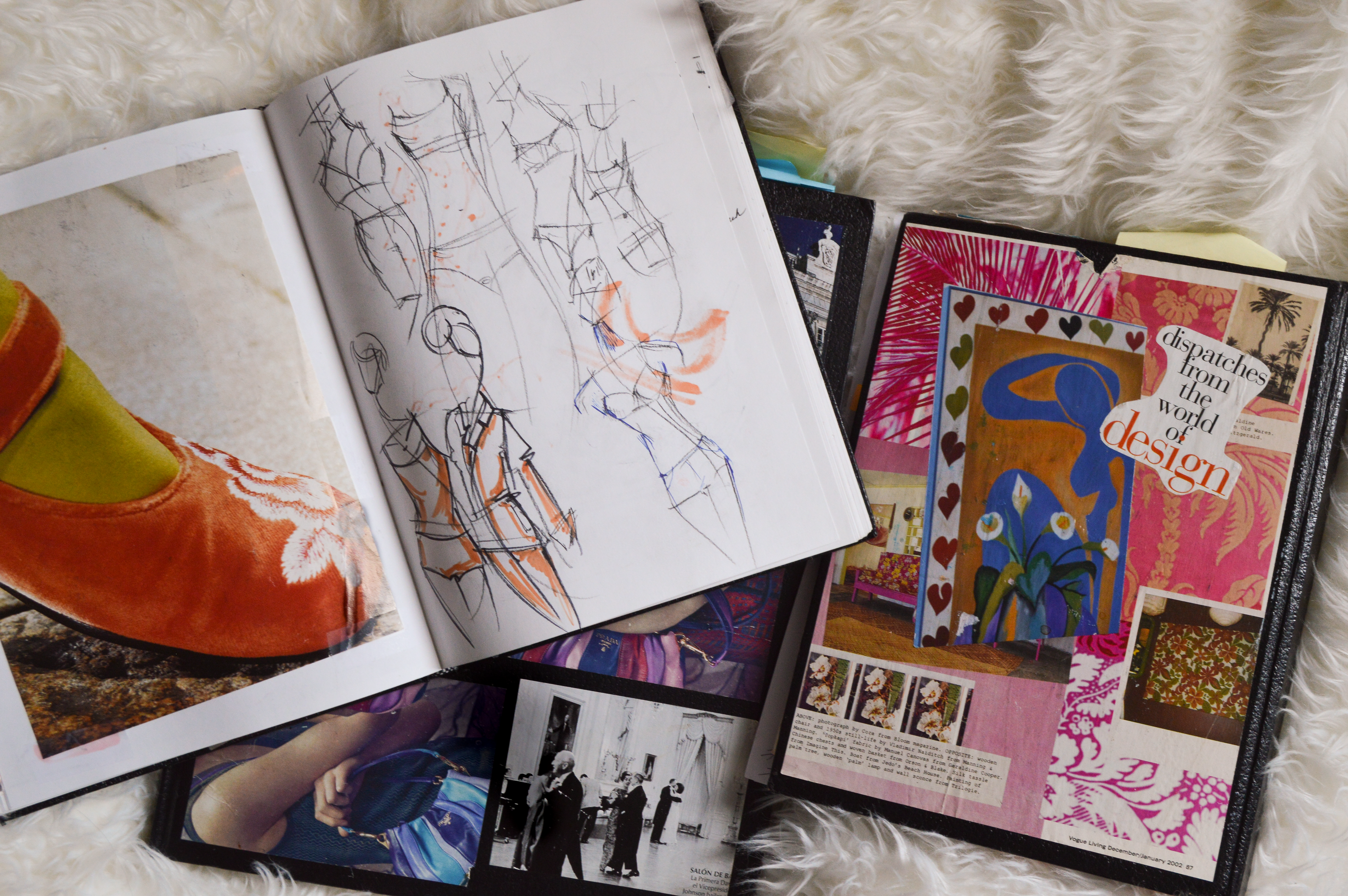 Sketchbooks inside and out