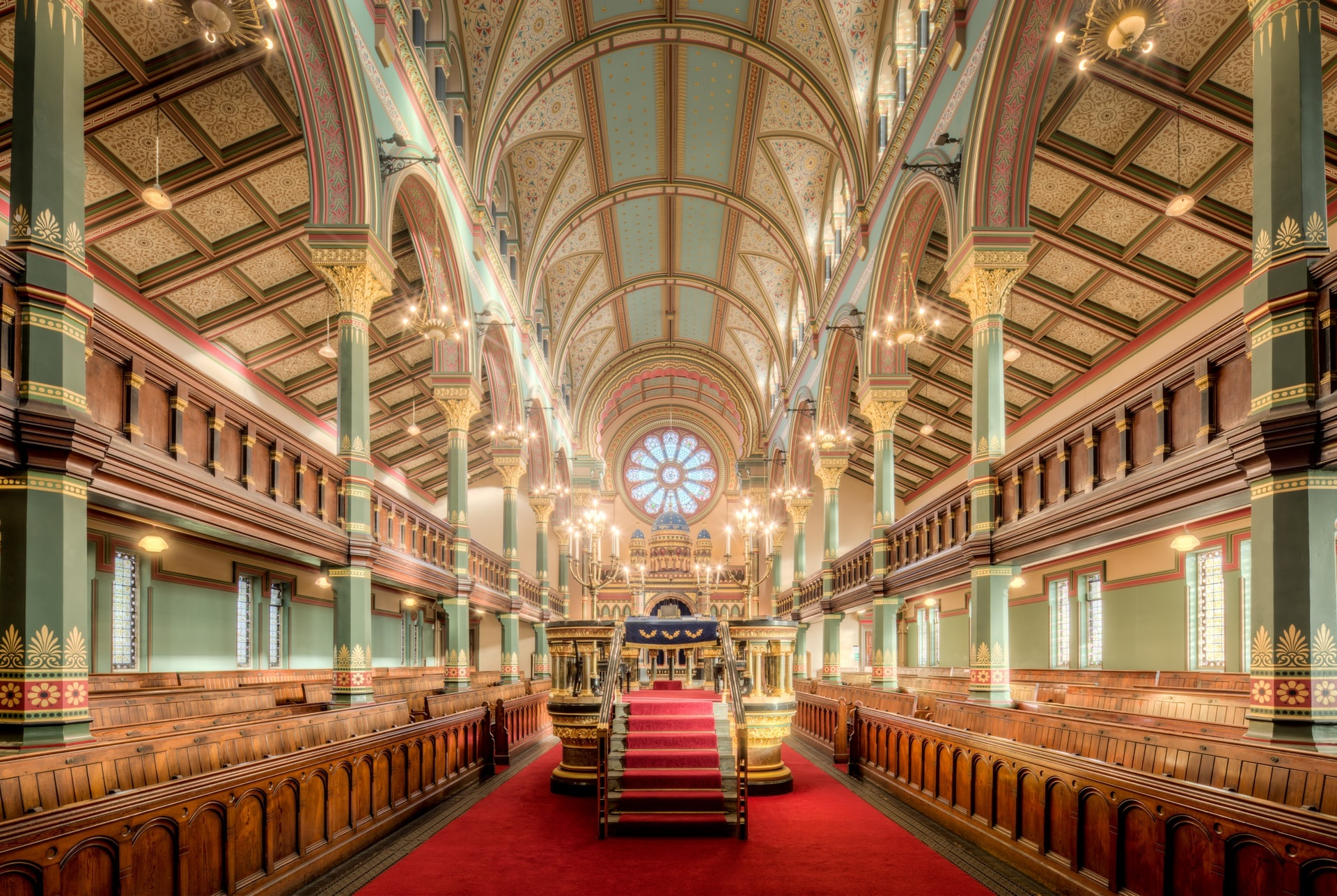 [Photograph taken from inside Princes Road Synagogue. Located in Liverpool, Merseyside, England.]