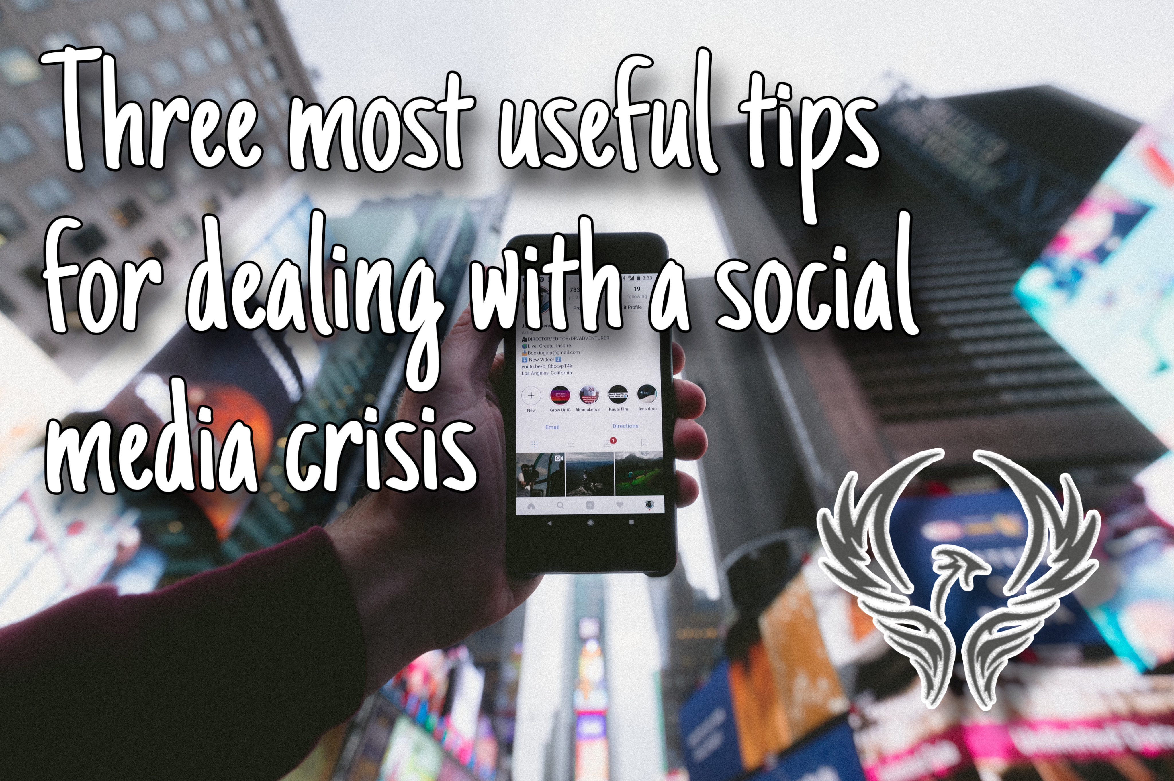 Three most useful tips for dealing with a social media crisis - Chris TDL