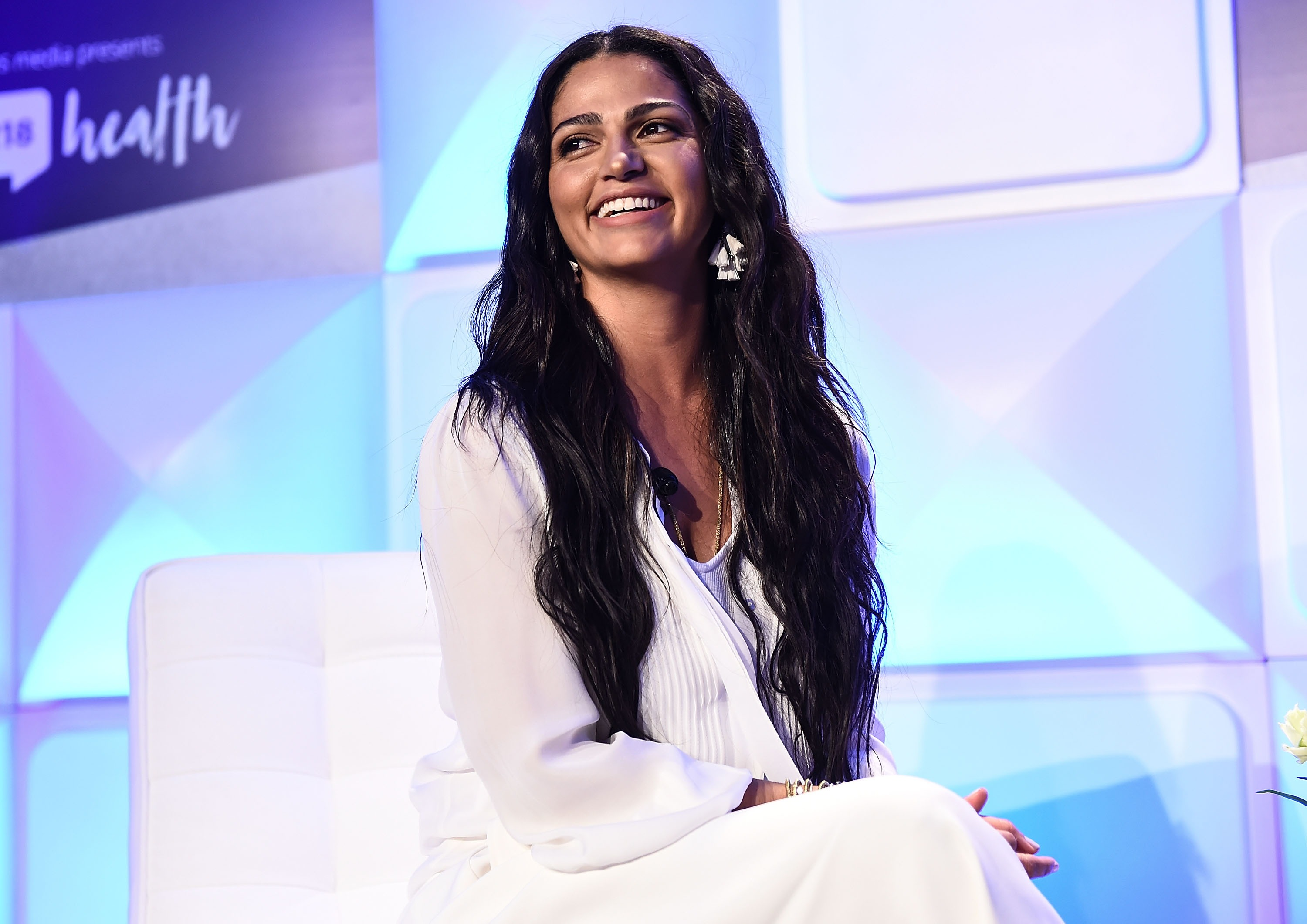 Camila Alves McConaughey attends the #BlogHer18 Health Conference at Tribeca 360 on January 31, 2018 in New York City.  (Photo by Daniel Zuchnik/Getty Images)