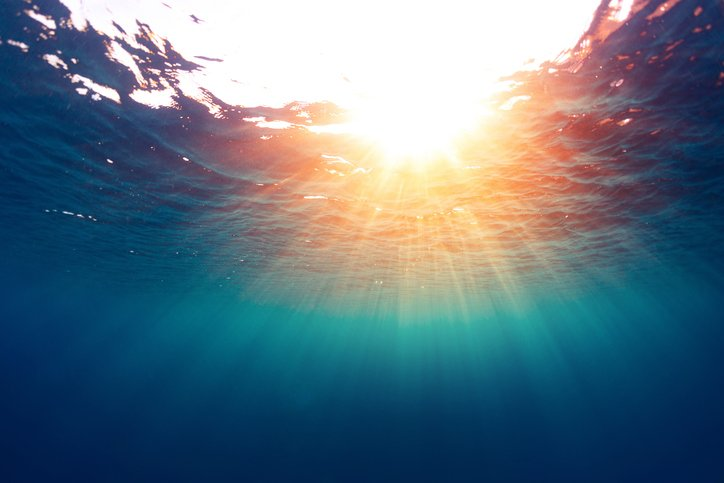 Underwater view of the sea surface
