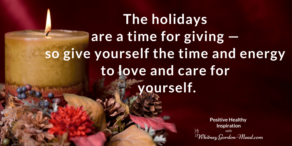 Holiday Self-Care quote