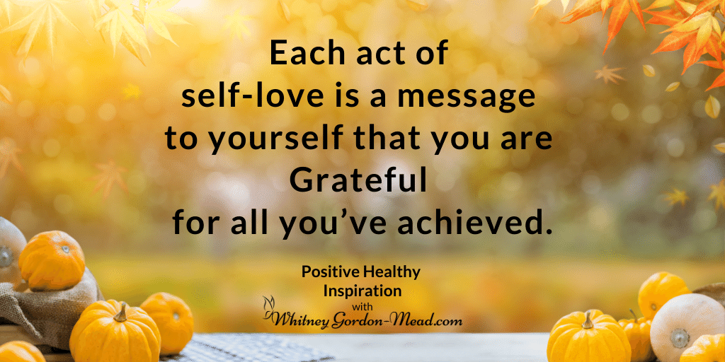 Quote about self-gratitude this Thanksgiving