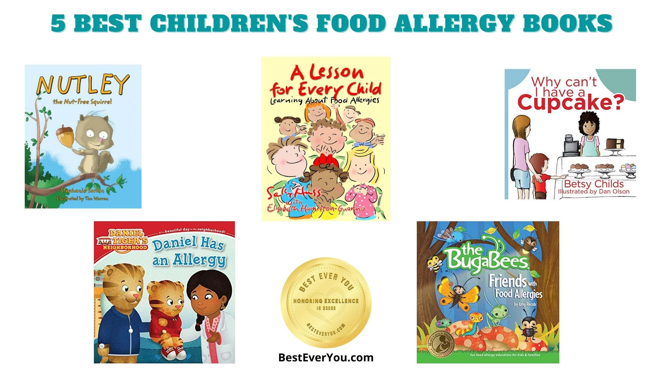 5 best books for children with food allergies.