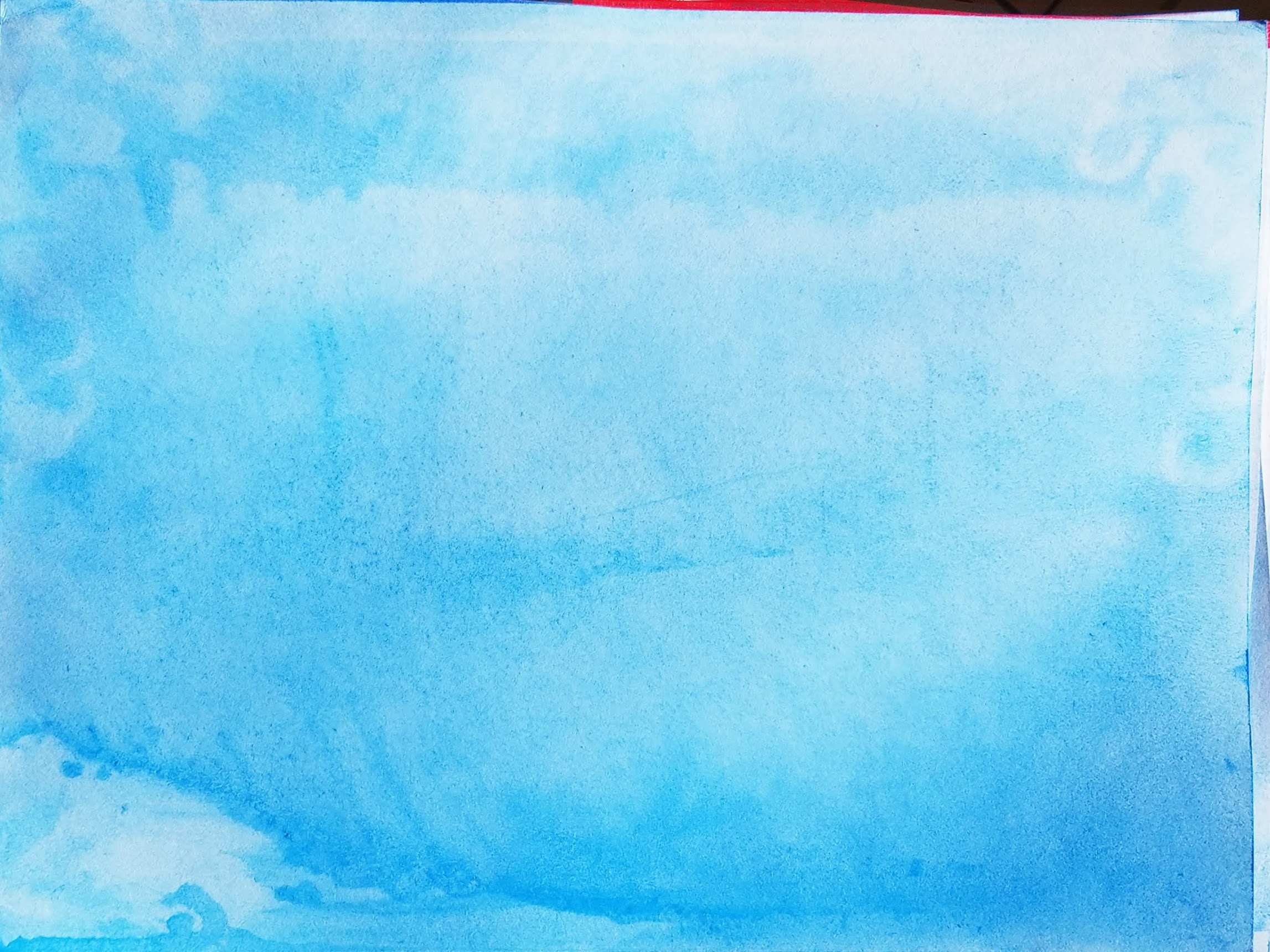 blue water color abstract