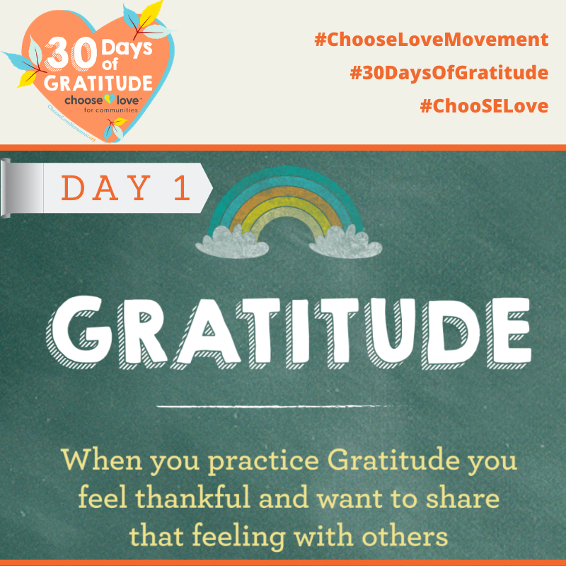 Join us for 30 Days of Gratitude -- Text ChooseGratitude to 41444