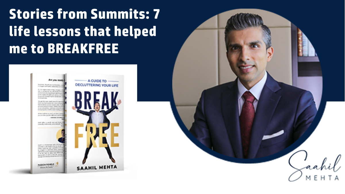 Saahil Mehta - Decluttering Coach - Stories from Summits