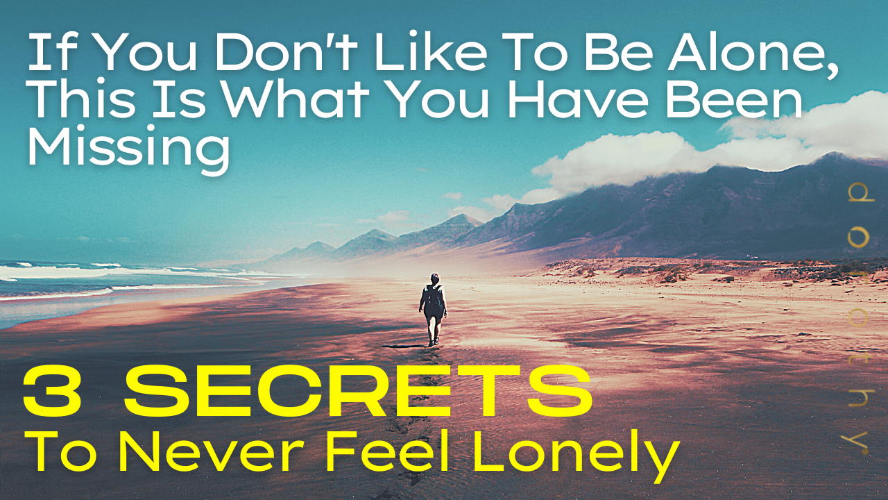 The-Three-Secrets-to-Never-Feel-Lonely-by-dorothy-ratusny (image of man walk alone on beach)