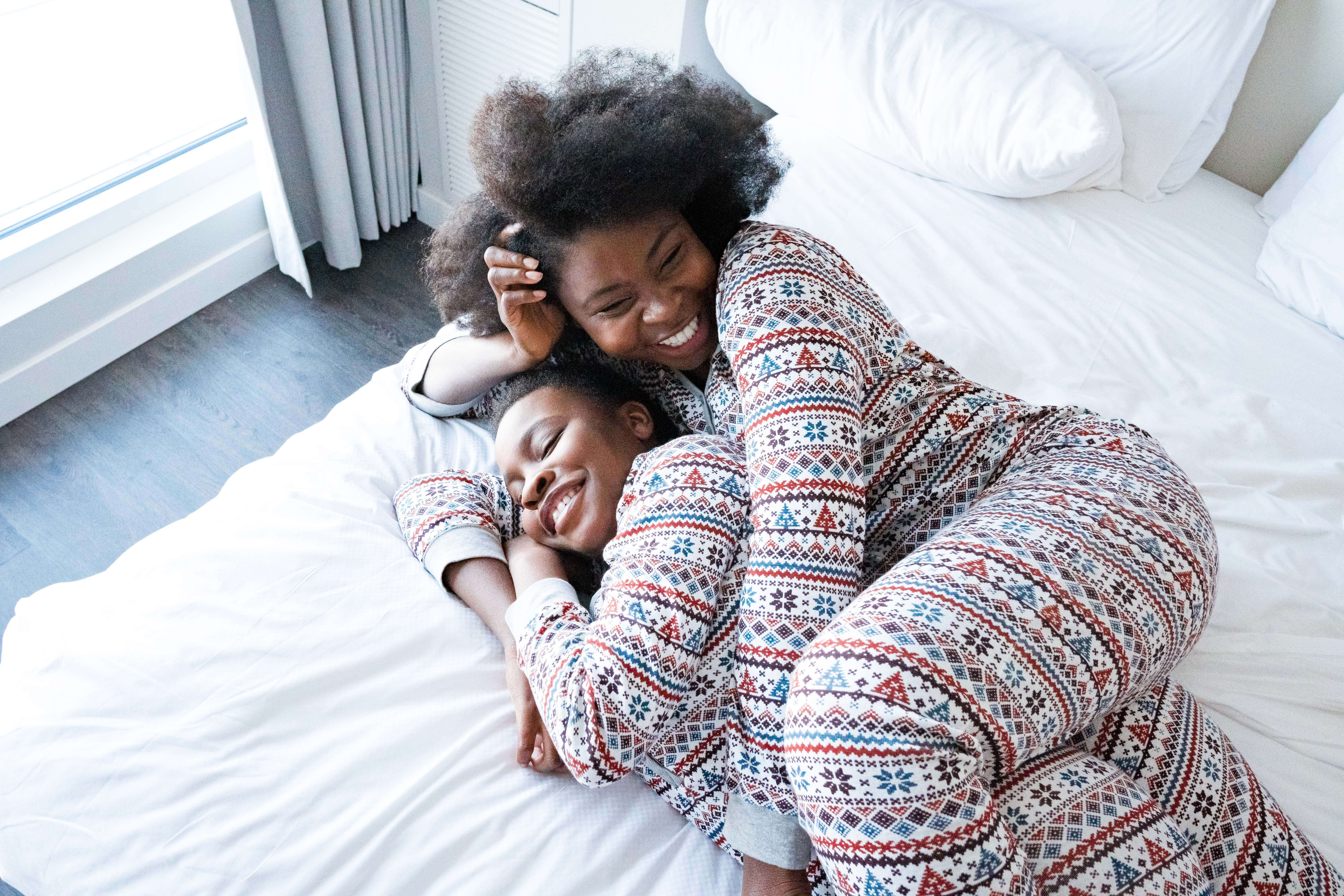 Theo + Leigh Christmas Pajamas styled by top Atlanta lifestyle blogger, Hurry in Time