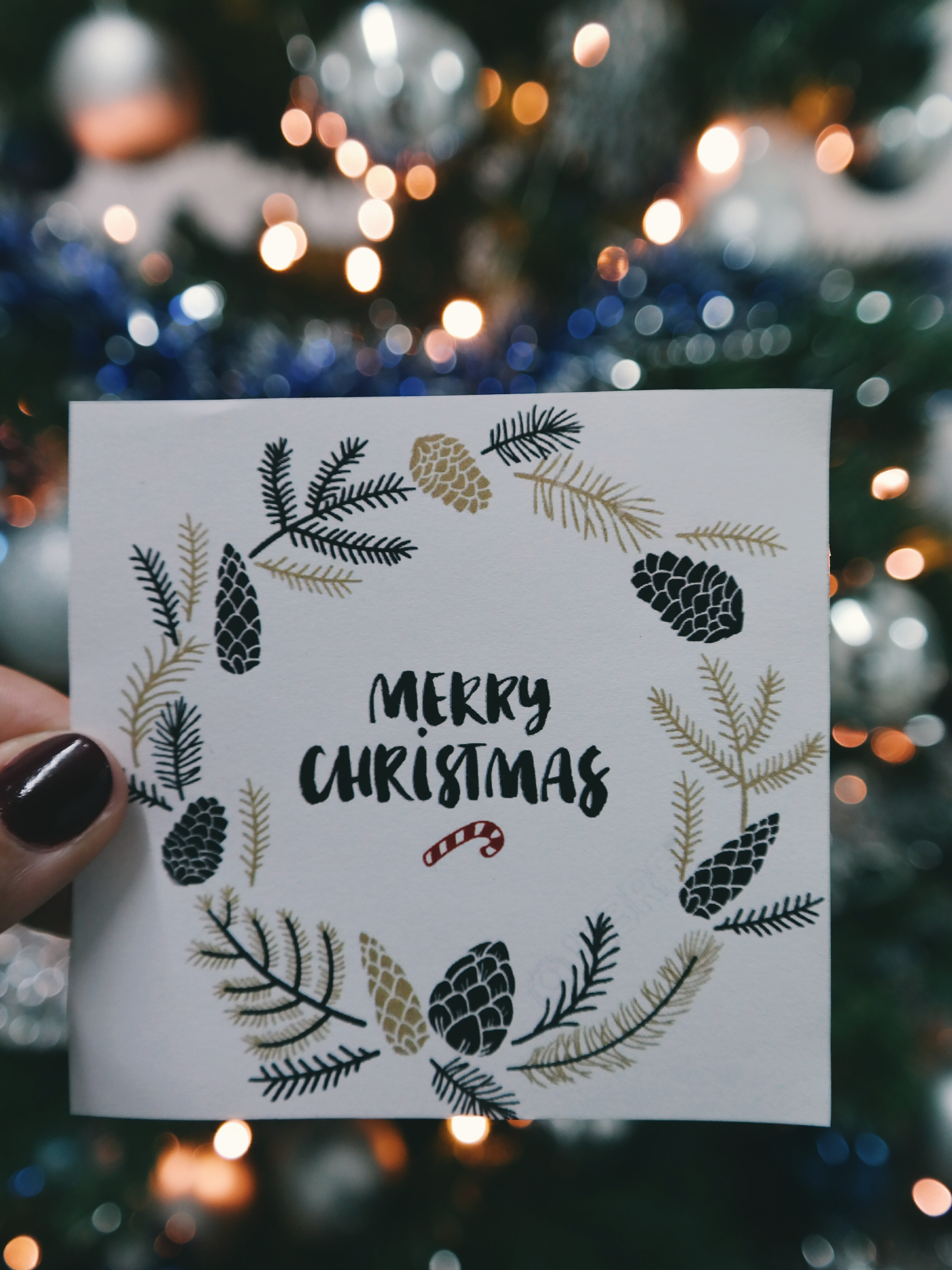 photo of christmas card