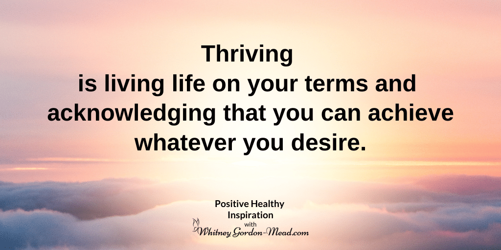 Thrive quote