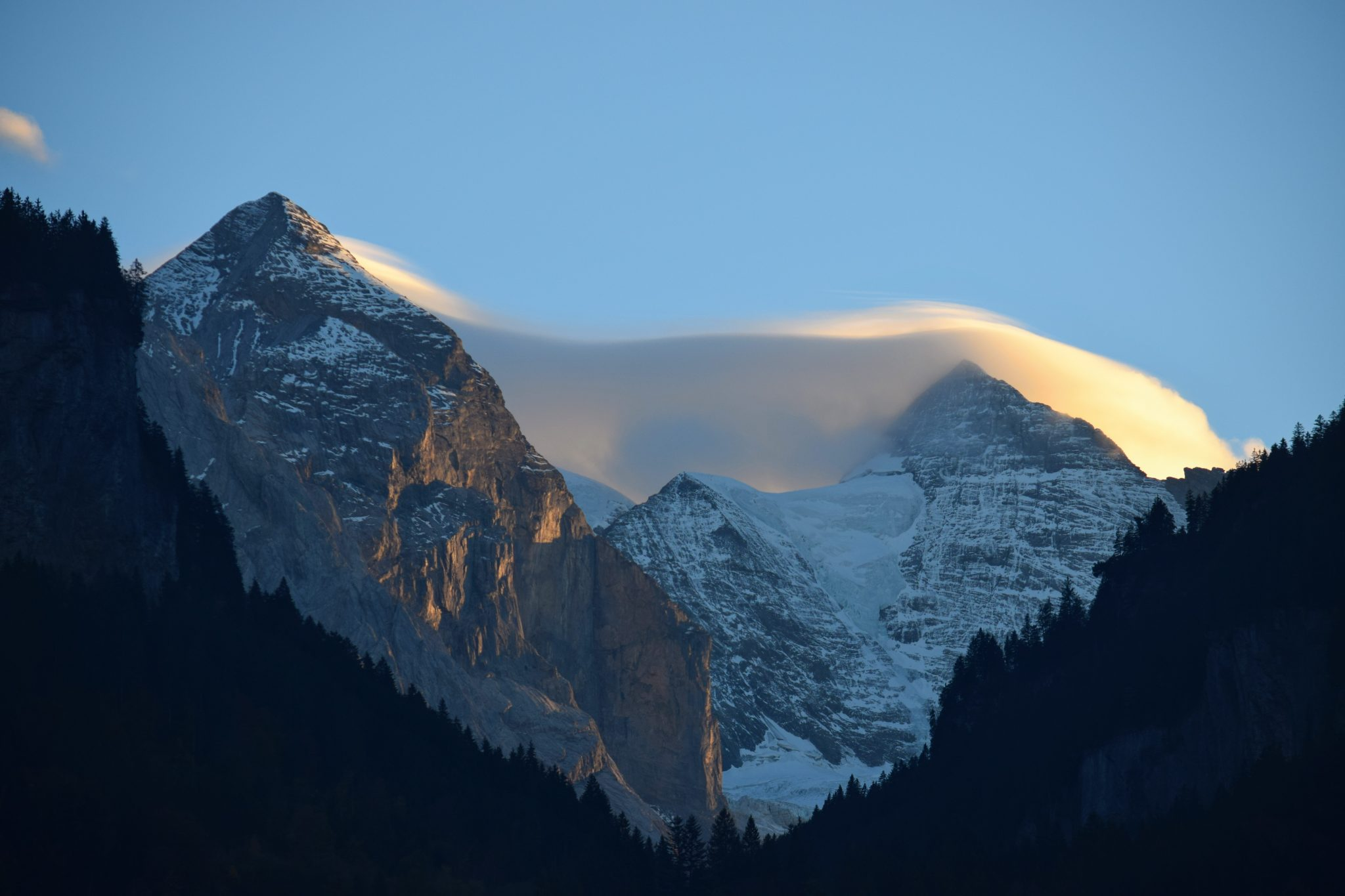 View of the Swiss Alps in Mountain Song by Lucy Fuggle