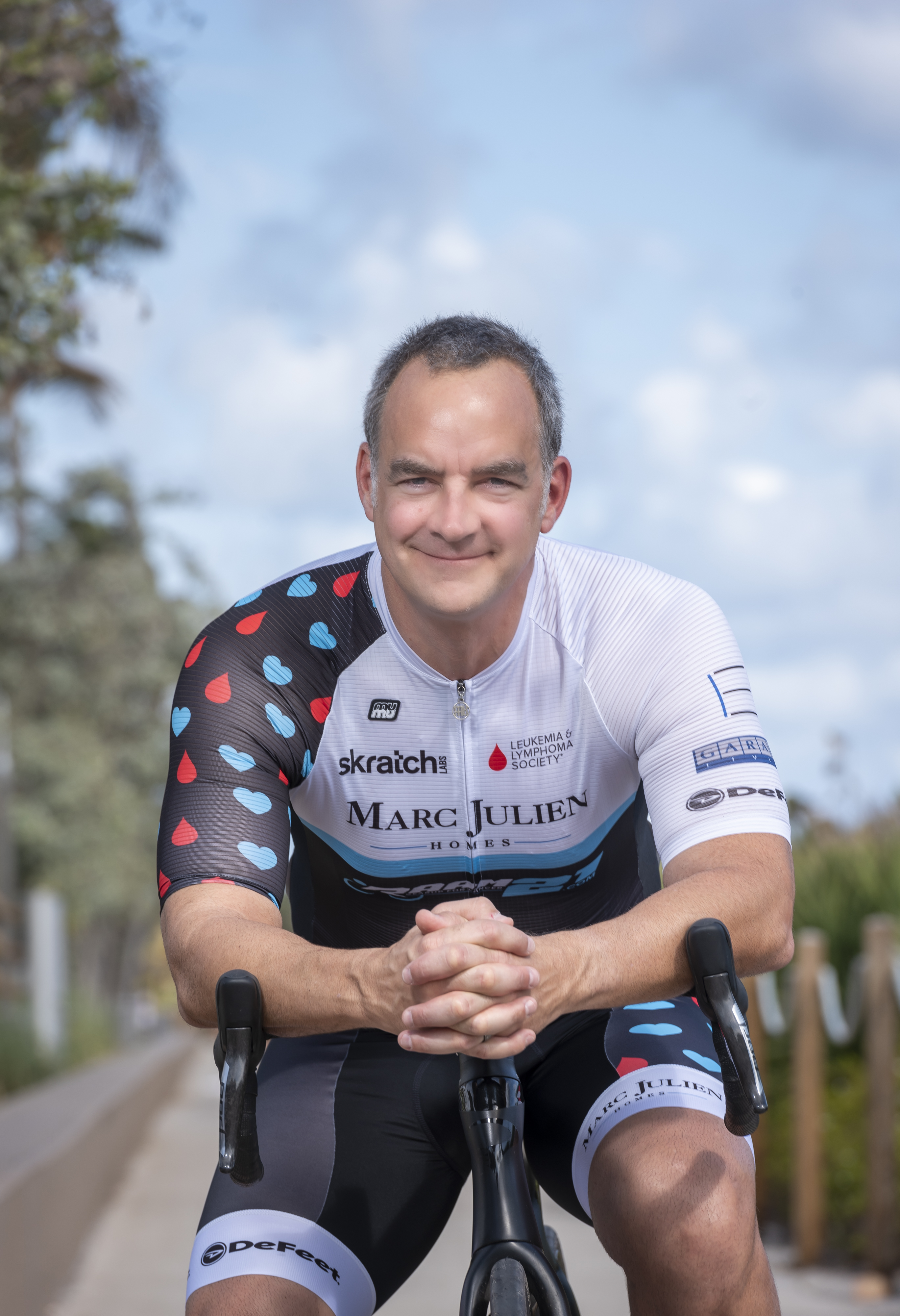 Marc Julien, CEO, Marc Julien Homes, is a cancer survivor and participated in the Race Across America cycling race.