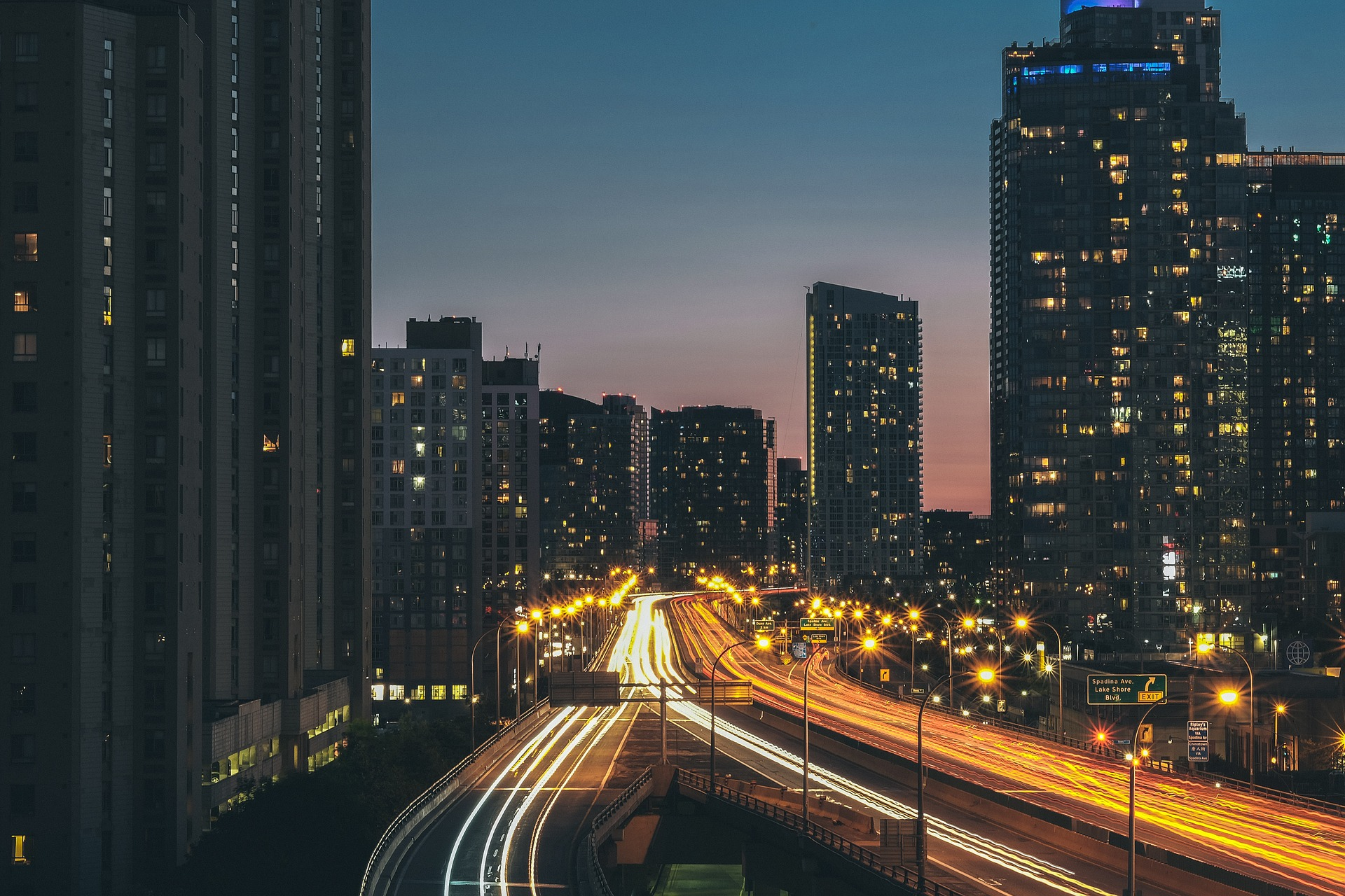 City scape with driving cars