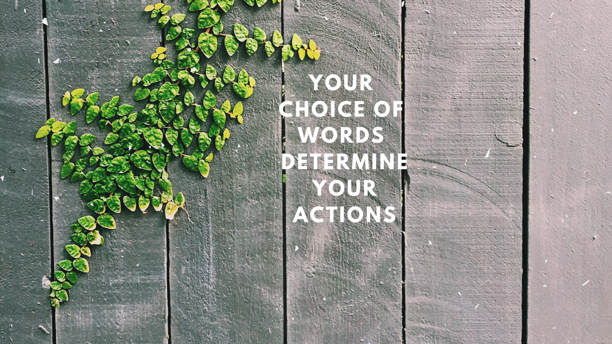 Your choice of words determine your actions