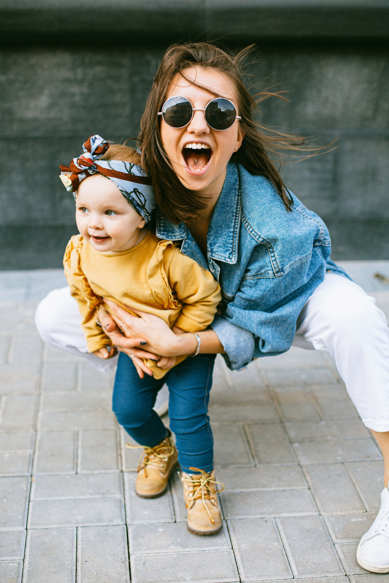 happy successful fulfilled mom
