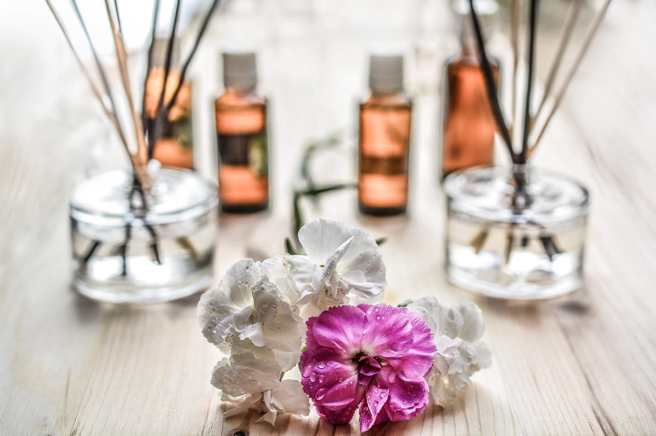 Flowers and reed diffusers
