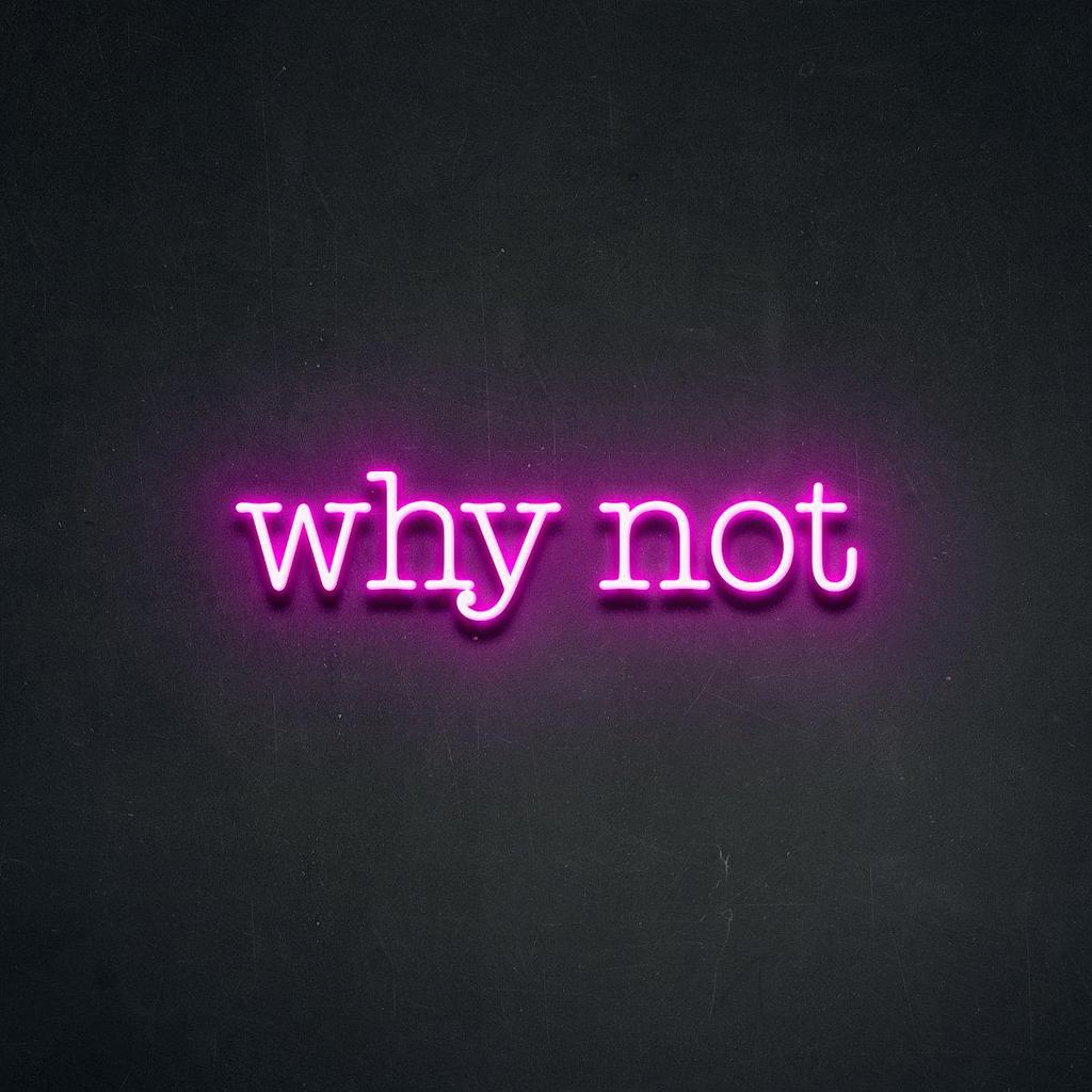 find your why, start with why, why not