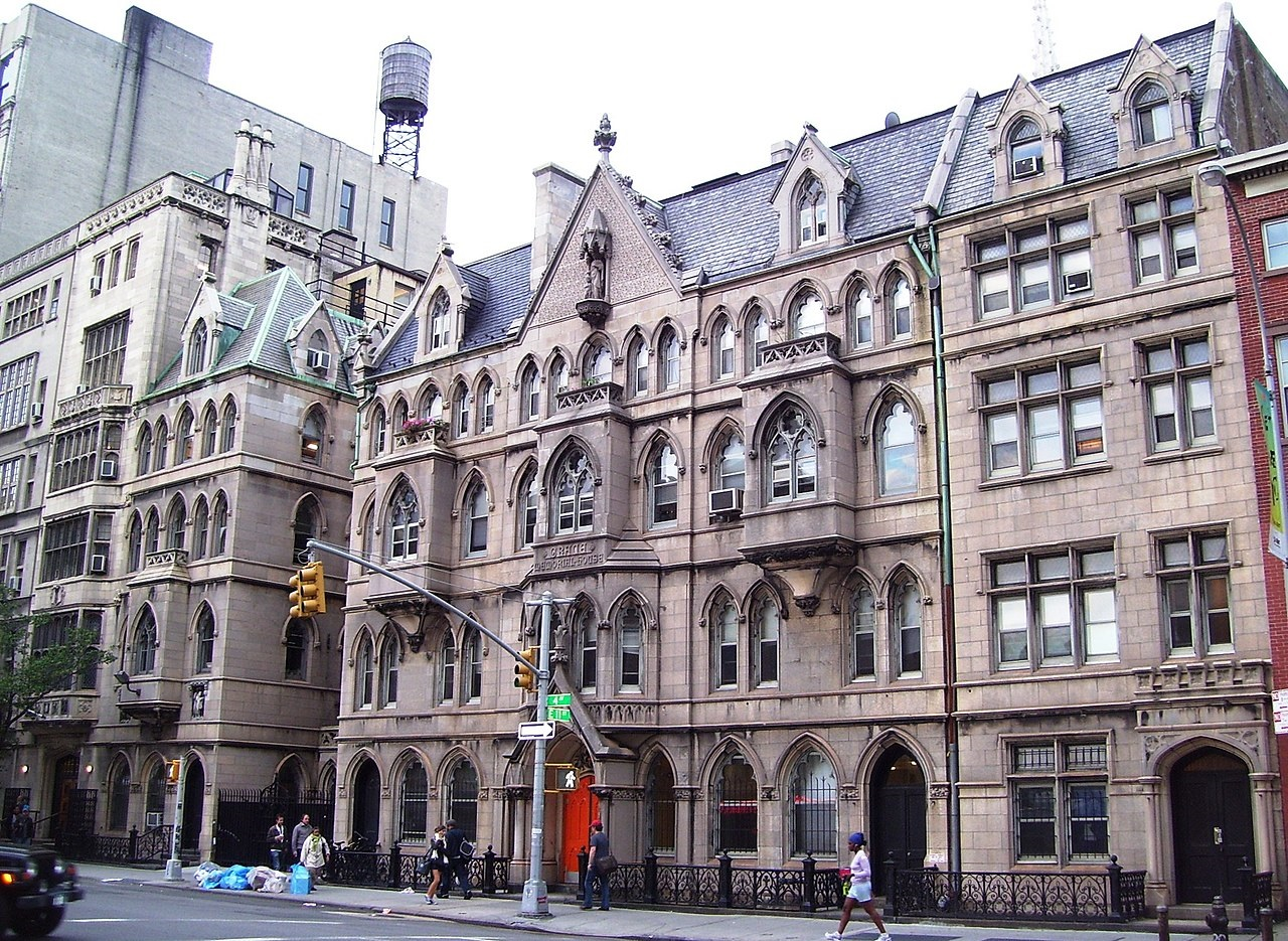Wikimedia Commons: The church houses of Grace Church on Fourth Avenue at 11th Street in Greenwich Village near Astor Place, Manhattan, New York City. Credit: Beyond My Ken