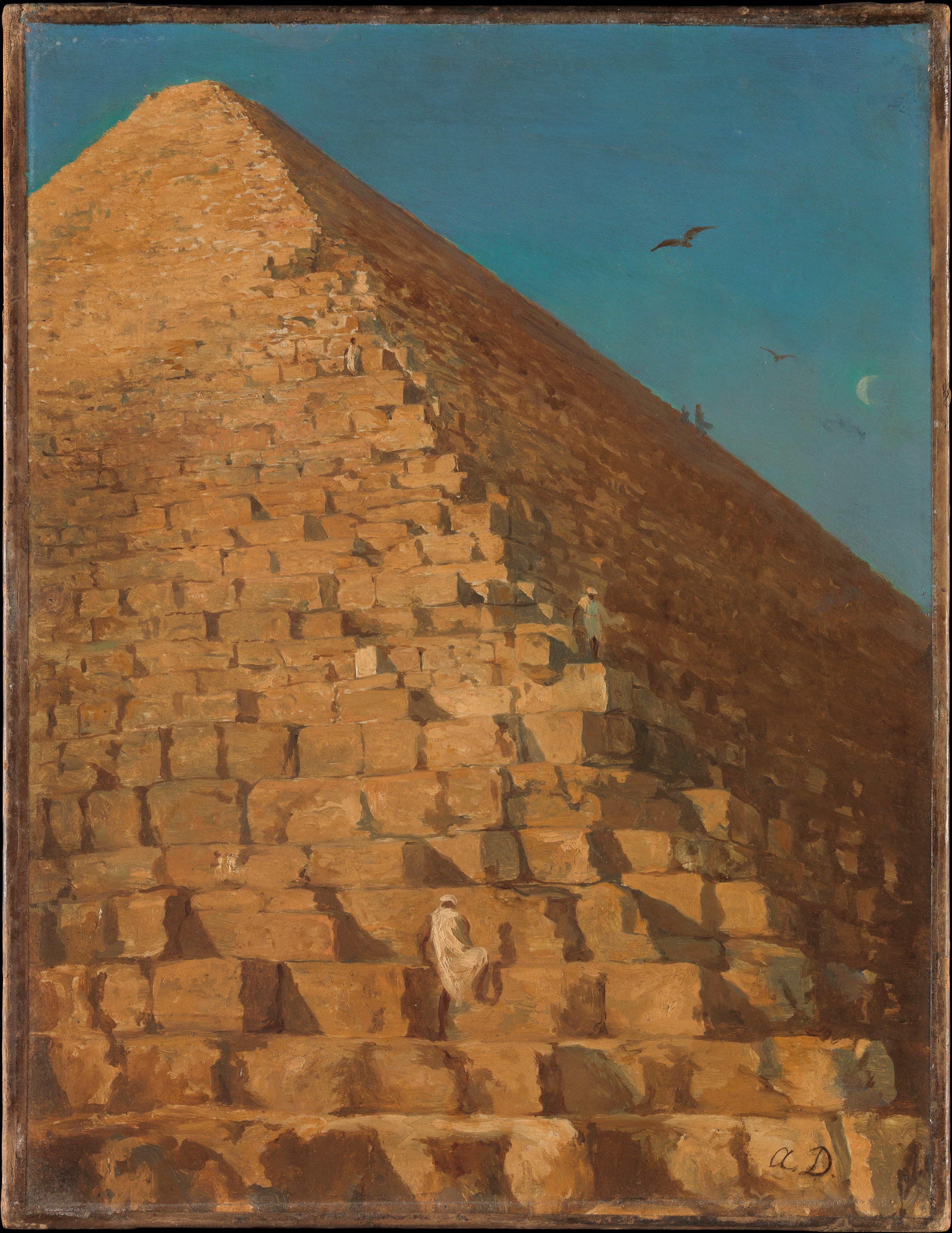 Adrien Dauzats, The Great Pyramid, Giza; from The Met Collection