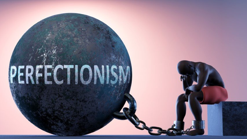 The problem with perfection - man in chains