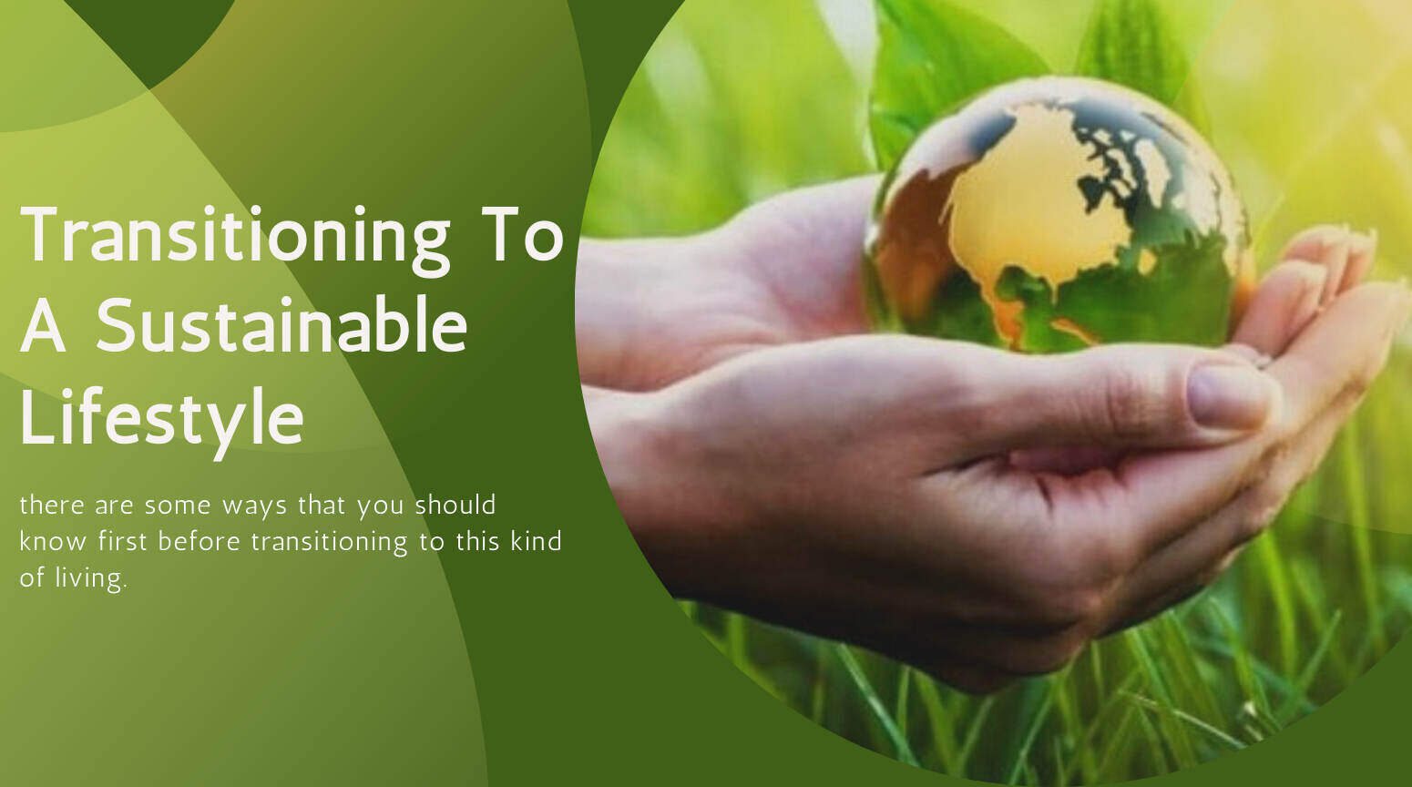 Transitioning To A Sustainable Lifestyle