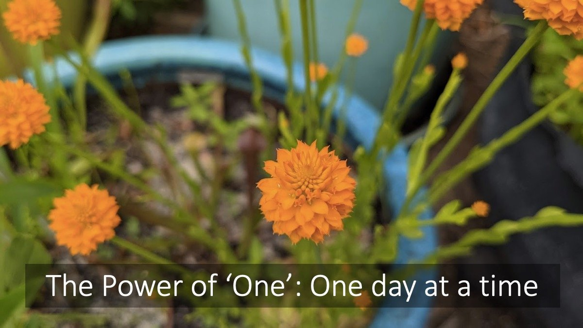 The Power of 'One': One day at a time