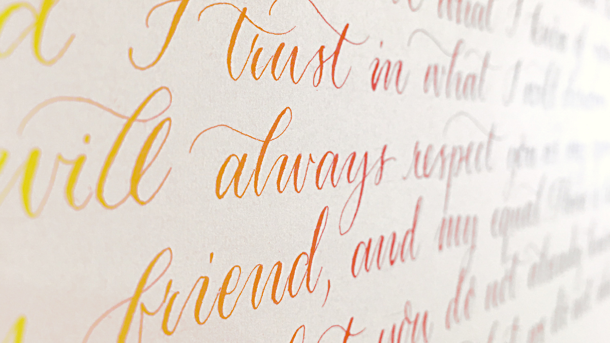 """Calligraphy image for the """"Four Tips for Writing Authentic Poetry"""" article"""